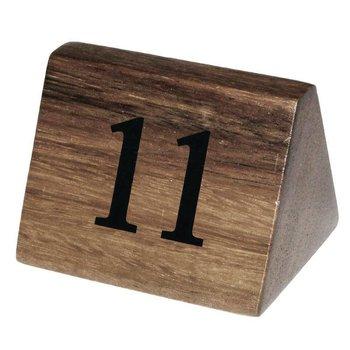 Houten tafelnummer bordje - 11 tot 20