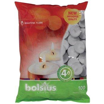 Theelichten bolsius - brandtijd 4 uur - 100 stuks
