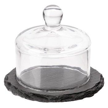 Leisteen plank met glazen stolp
