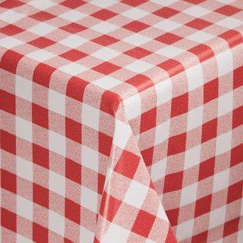 Tafellaken - PVC rood wit - 135x135cm