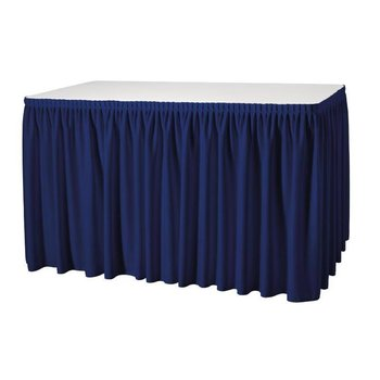 Tafelrok - 73x410cm - plissé donkerblauw