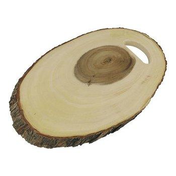 Serveerplank hout - ovaal 46x21cm