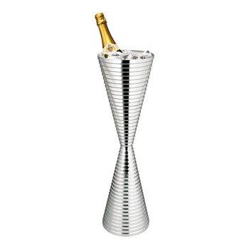 Wijnkoeler hoogglans RVS - diabolo dubbel - (H)79cm