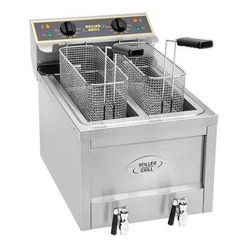 Friteuse elektrisch - 8+8 liter - 2x 3000 watt