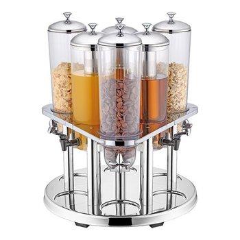 Buffet dispenser combi - cornflakes en drank - 6x