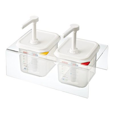 Saus dispenser unit - 2x 1/6GN - 2,2 liter