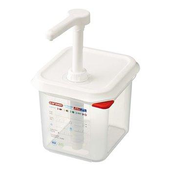 Saus dispenser - 1/6GN - 15cm diep - 2,2 liter