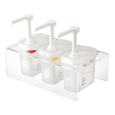 Saus dispenser unit - 3x 1/9GN - 1 liter