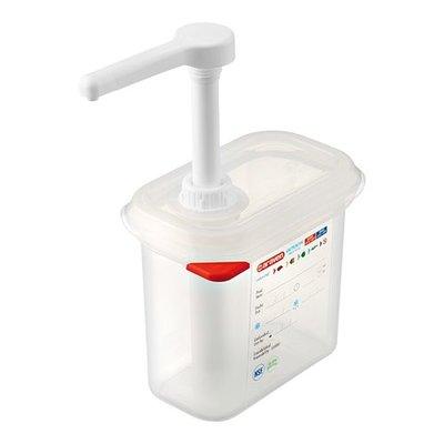 Saus dispenser - 1/9GN - 15cm diep - 1 liter