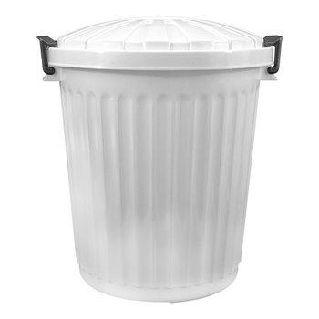 Afvalton met deksel - 43 liter - wit
