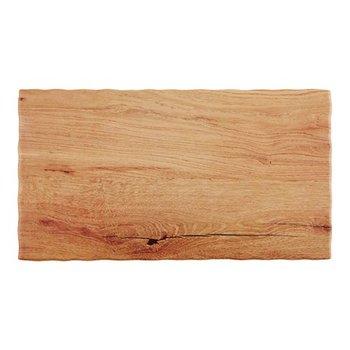 Serveerplateau - sterk melamine - houten look - 2/4GN