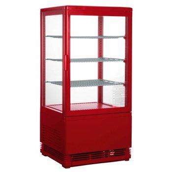 Koelvitrine opzetmodel SC70 | rood | 70L | (H)88x(B)43x(D)38