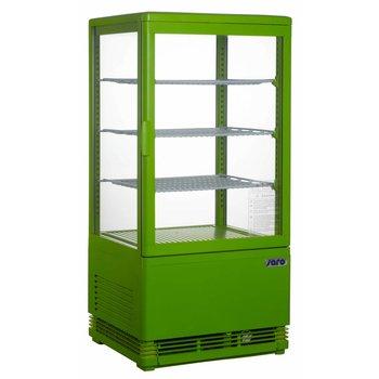 Koelvitrine opzetmodel SC70 | groen | 70L | (H)88x(B)43x(D)38