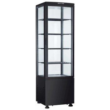 Koelvitrine staande model Sven | zwart | 235L | (H)168,9x(B)51,5x(D)48,5