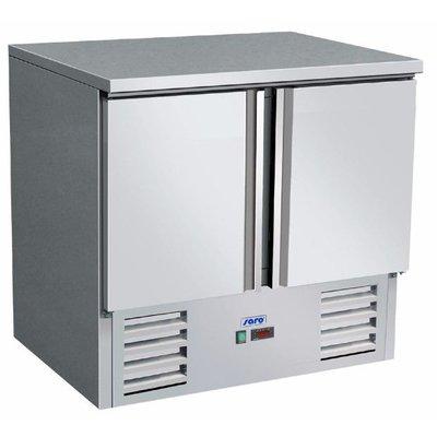 Gekoelde werkbank | Vivia S 901 s/s Top - 2 deurs | (H)88,5x(B)90x(D)70
