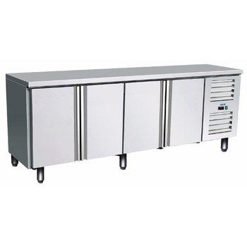 Geventileerde koelwerkbank | Kylja 4100 TN | 4 deurs  (H)89/95x(B)223x(D)70