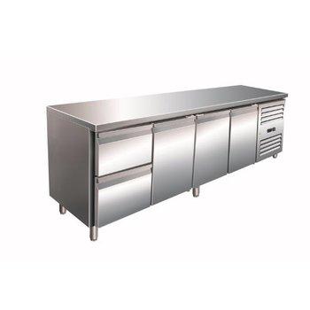 Geventileerde koelwerkbank | Kylja 4110 TN | 3 deurs en 2 lades | (H)89/95x(B)223x(D)70