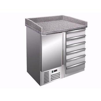 Pizzawerkbank | PZ4001 | 1 deur en 6 lades 60x40cm | (H)102x(B)95,5x(D)70