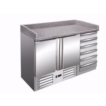 Pizzawerkbank | PZ9001 | 2 deurs en 6 lades 60x40cm | (H)102x(B)142x(D)70
