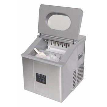 IJsblokjesmachine EB15 | handmatig water vullen | holle ijsblokjes | 15kg/24u | 1,2kg bunker