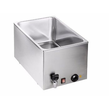 Bain marie BMH210 - 1/1GN 200mm - met tap