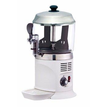 Warme chocolademelk dispenser Nina - wit - 5 liter