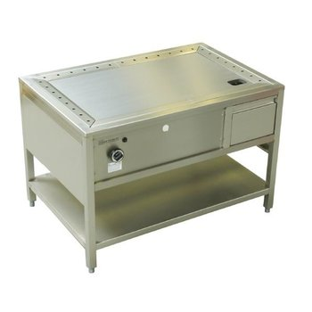 Teppanyaki tafel RVS pro - 140cm