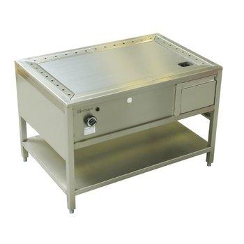 Teppanyaki tafel RVS pro - 100cm
