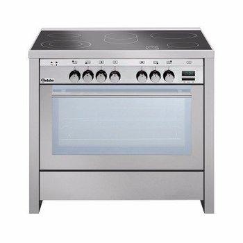 Keramisch fornuis Bartscher - 5 zones - met oven