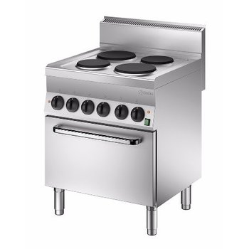 Elektrisch fornuis Bartscher 650 snack - 4 platen - met 1/1GN oven