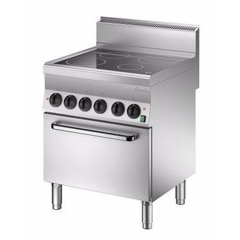 Keramisch fornuis Bartscher 650 snack - 4 zones - met 1/1GN oven