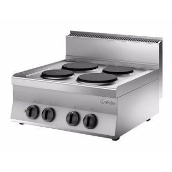 Elektrische kooktoestel Bartscher 650 snack - 4 platen