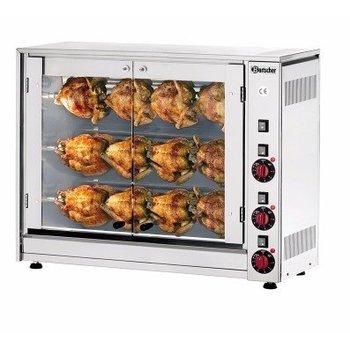 Elektrische kippengrill P12N - 12 kippen