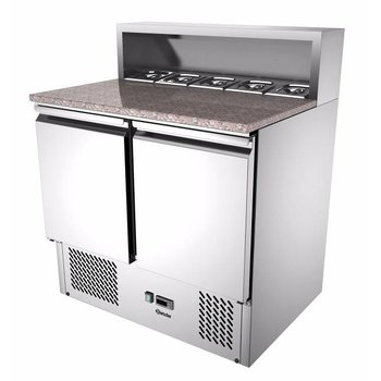 Pizza saladiere 900T2 | boven 5x 1/6GN | (H)108x(B)90x(D)70