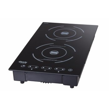 Inductie kookplaat IK20S-EB - 2 kookvlakken - 1300W en 1800W