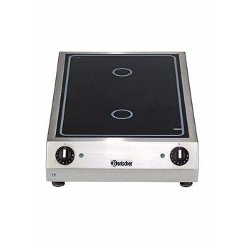 Keramisch kooktoestel - 2x Ø230mm - achter elkaar