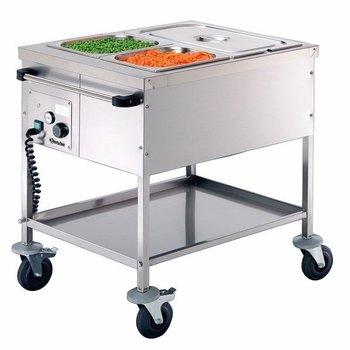 Voedsel transportwagen hitte element verwarming - 2x 1/1GN 200mm