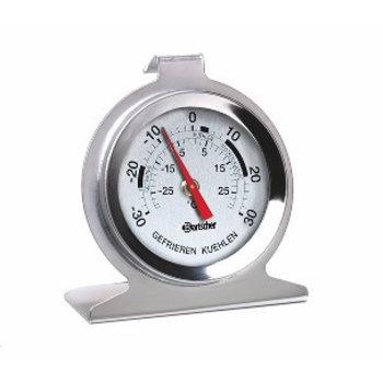 Diepvries en koelkast thermometer voor -30 tot 30 graden - rvs