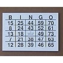 Grootcijfer Bingokaarten A5 Formaat - Grootletter Bingo