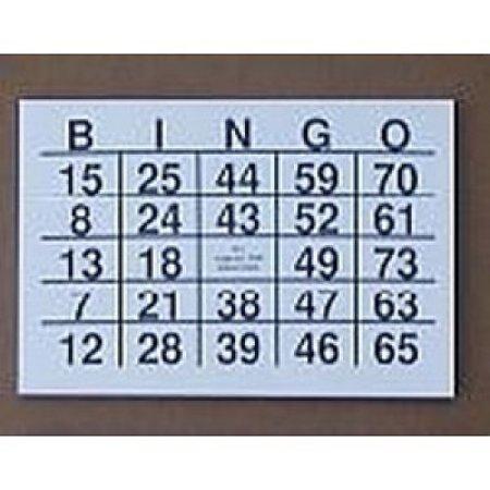 TZ TZ Grootcijfer Bingokaarten A5 Formaat - Grootletter Bingo
