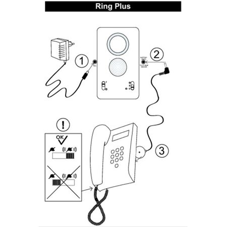 Doro Doro Ringplus Telefoonbel Versterker Met Flits