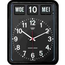 BQ-12 Kalenderklok Wandmodel Groot Wit Of Zwart