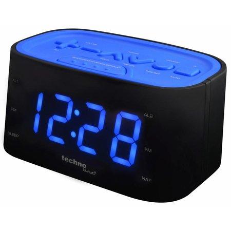 Techno Line Techno Line Wekkerradio Met Grote Cijfers - Blauwe LED