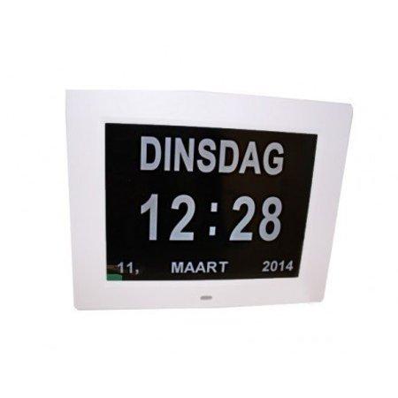 Low Vision design Digitale Kalenderklok met tijd, dag en datum aanduiding
