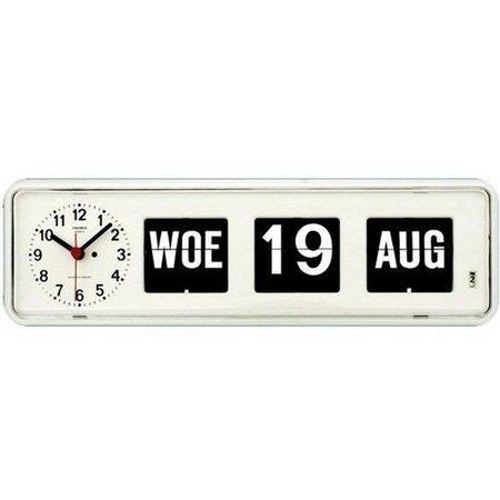 Twemco Twemco Q38 Kalenderklok Tafelmodel (wit of zwart)