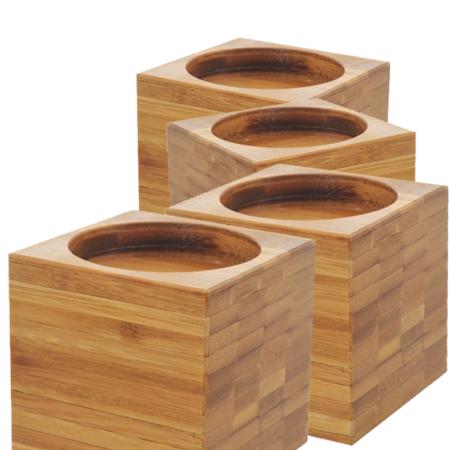 Able2 Able2 Bamboo Stoelverhogers / Bedverhogers