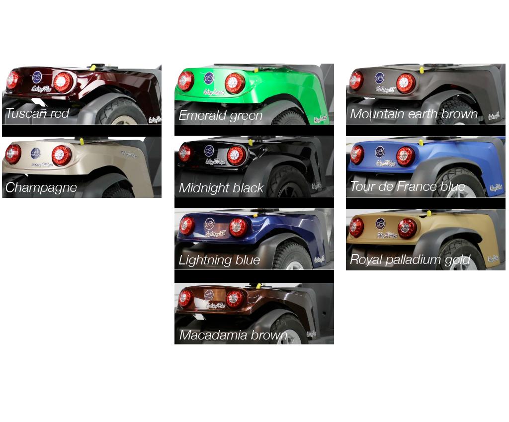 Scootmobiel Exel Galaxy 2 de luxe alle kleuren