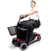 IT FITS Scootmobiel / Rolstoel  Schootskleed Zwart met voetstuk (gevoerd)
