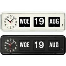 Q38 Kalenderklok Tafelmodel (wit of zwart)