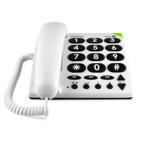 Doro Doro PhoneEasy 311c Wit - Senioren Huistelefoon
